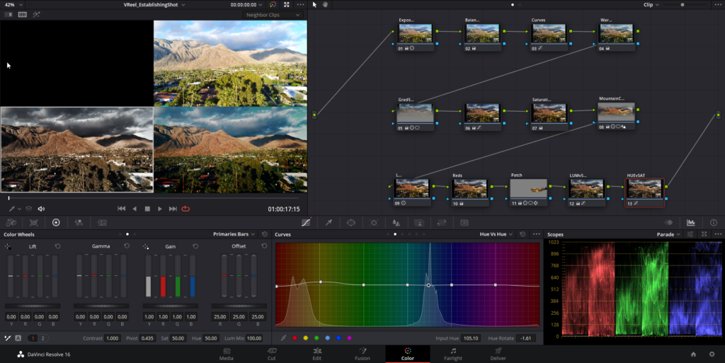 DaVinci Resolve video editing software on computer screen - How to use stock video footage like a professional filmmaker